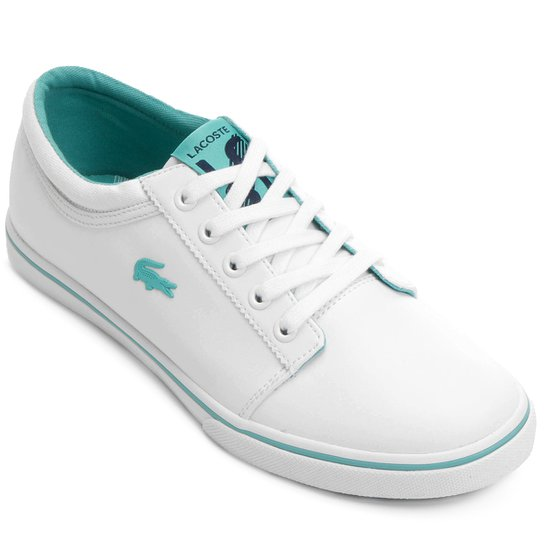 db5da839f3e Tênis Lacoste Vaultstar Sleek Ens - Branco+Verde Água
