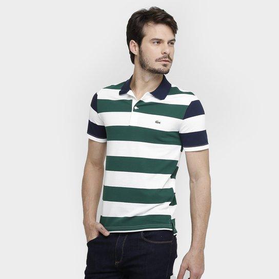 2c10b67552 Camisas Polo Lacoste Piquet Listras Color - Compre Agora