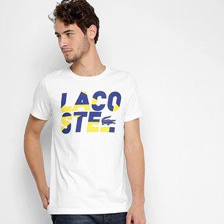 211ff7651f36e Camiseta Lacoste Estampada Masculina