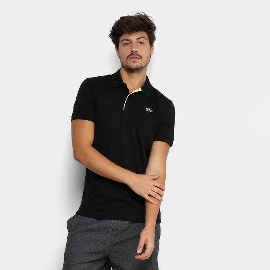 Camisa Polo Lacoste Básica Masculina - Preto e verde - Compre Agora ... 35a106a622