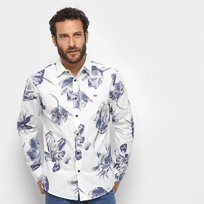 Camisa Manga Longa Triton Comfort Floral Masculina