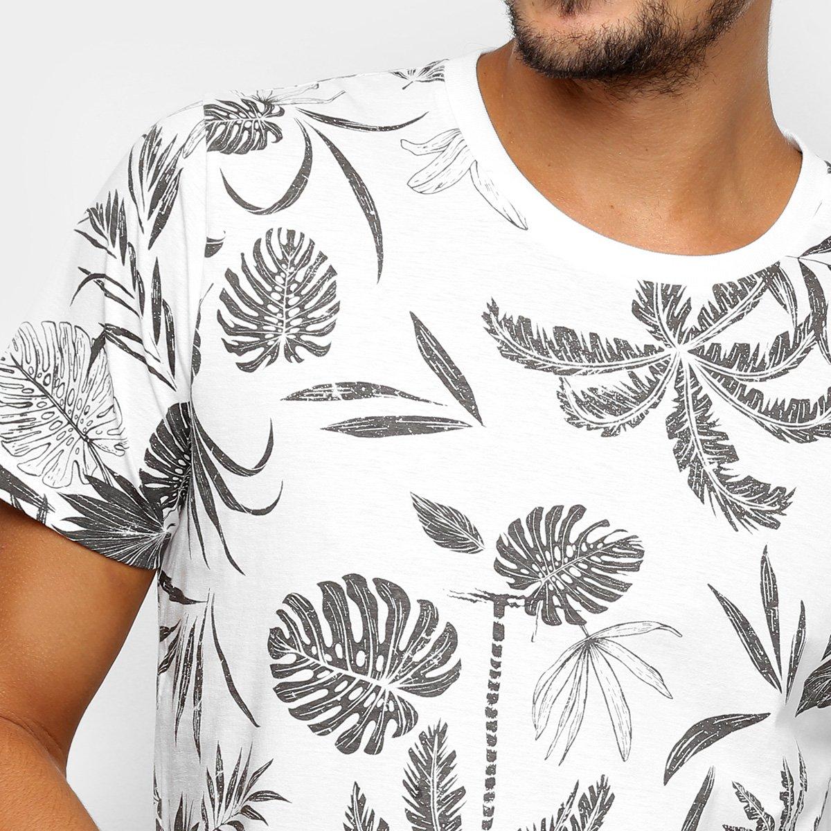 6a5b2556c Camiseta Colcci Estampa Folhagem Masculina - Shopping TudoAzul