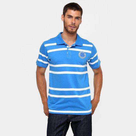 e729973d80fe9 Camisa Polo Cruzeiro Hannigan Masculina - Azul+Branco