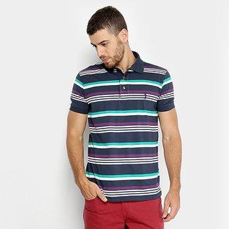Camisa Polo Aleatory Fio Tinto Listrada Masculina 0ed5db066be4a