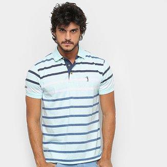 Camisa Polo Aleatory Fio Tinto Listrada Masculina 1fa7d81860835