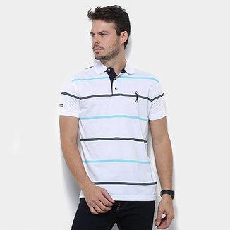67c03f7f9a Camisa Polo Aleatory Listrada Fio Tinto Masculina