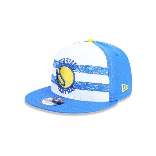 99ef669a28b03 Boné 950 Golden State Warriors NBA Aba Reta Snapback New Era - Branco+Azul