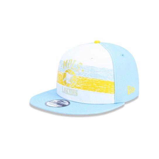 Boné 950 Los Angeles Lakers NBA Aba Reta Snapback New Era - Branco e ... efd09aaa8b2