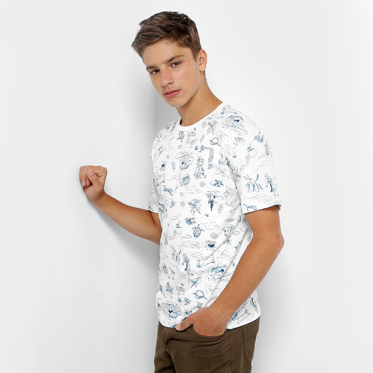 2a0a96b30 Camiseta Infantil Colcci Fun Aloha Masculina - Shopping TudoAzul
