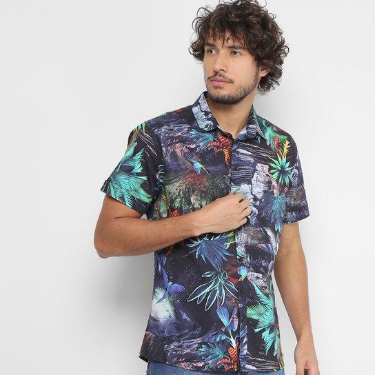 Camisa Coca-Cola Manga Curta Estampa Floral Masculina - Compre Agora ... ba1c2e8948e