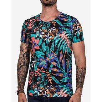Camiseta Hermoso Compadre Psyco Flowers Masculina 08c8a4cde34
