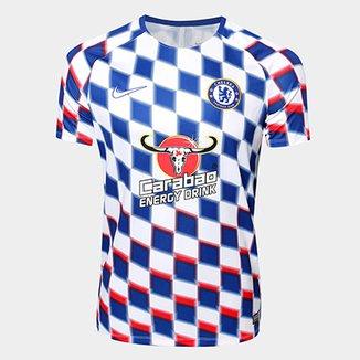 Camisa Chelsea Pré-Jogo Dry Squad 2018 s n° - Nike Masculina 3d5155030003c