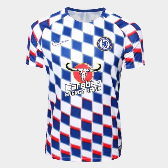 aa66b570e6 Camisa Chelsea Pré-Jogo Dry Squad 2018 s n° - Nike Masculina ...