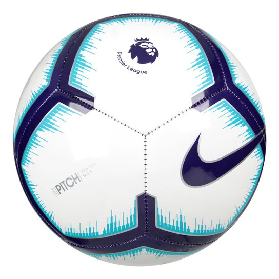 Bola de Futebol Campo Premier League Pitch Nike - Branco e Azul ... 04a5b5229d170