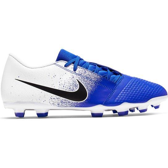 22a6d91179c00 Chuteira Campo Nike Phantom Venom Club FG - Branco e Azul | Netshoes
