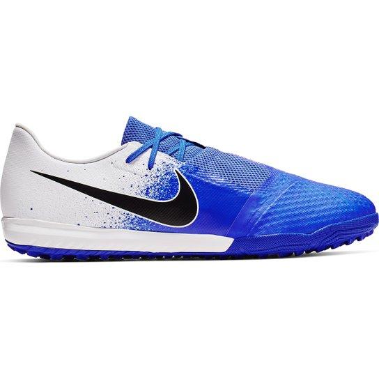 0e01e869f041e Chuteira Society Nike Phantom Venom Academy TF - Branco e Azul ...