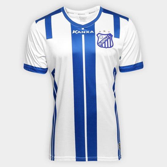 Camisa Olímpia II 2017 nº 10 - Torcedor Kanxa Masculina - Branco+Azul 877cb64eaea6d