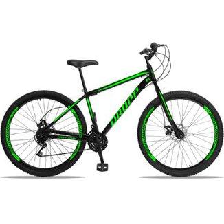 8641dd38d399c Bicicleta Aro 29 DROPP AÇO 21v Marchas com Freio a Disco Mecânico