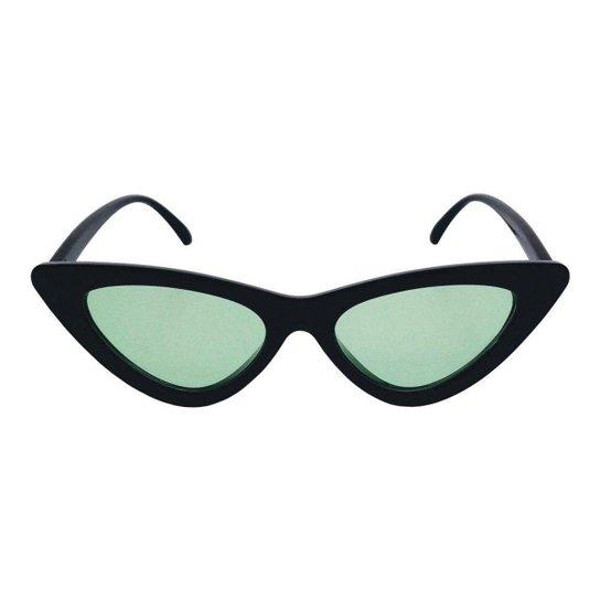 0059a2dc7 Óculos de Sol Khatto Bruninha Vintage Feminino - Preto e verde ...
