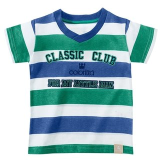 2011c7922a4b5 Camiseta Listrada Infantil Masculino Colorittá