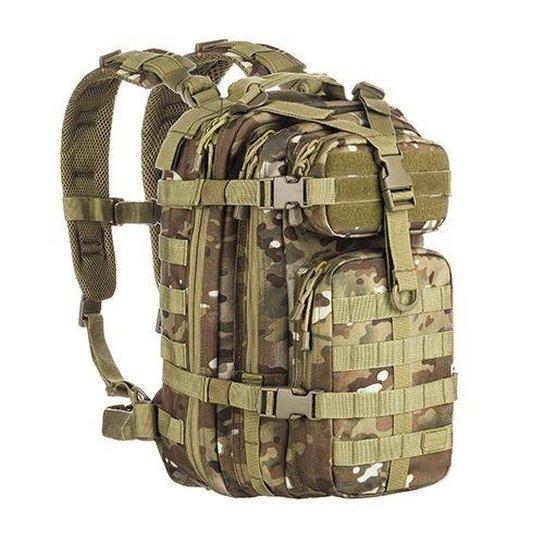 f4ea40a41 Mochila Militar Assault Invictus Camuflado Multicam 30 Litros - Bege+Verde