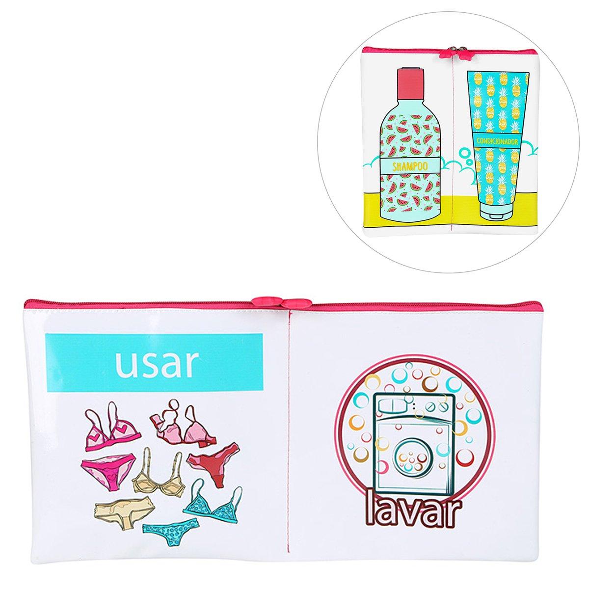Kit Drezzup Porta Lingerie + Necessaire Porta Shampoo e Condicionador