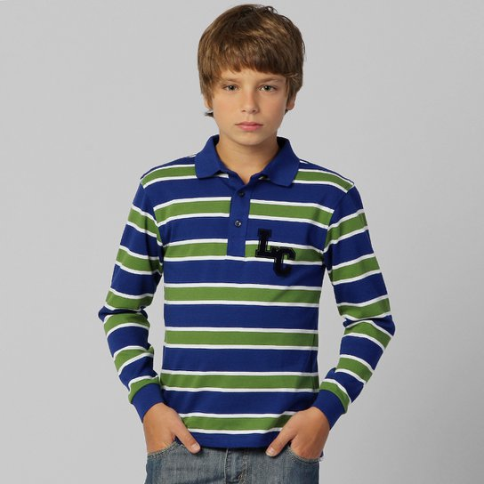 d2cb97f87103a Camisa Polo Lacoste Rugby Jersey Infantil - Compre Agora