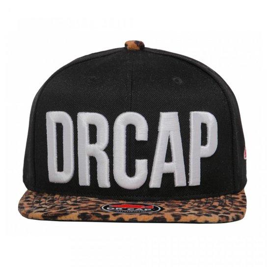 Boné Strapback Leopard Drcap - Onça e Preto - Compre Agora  031a7fdcfe3