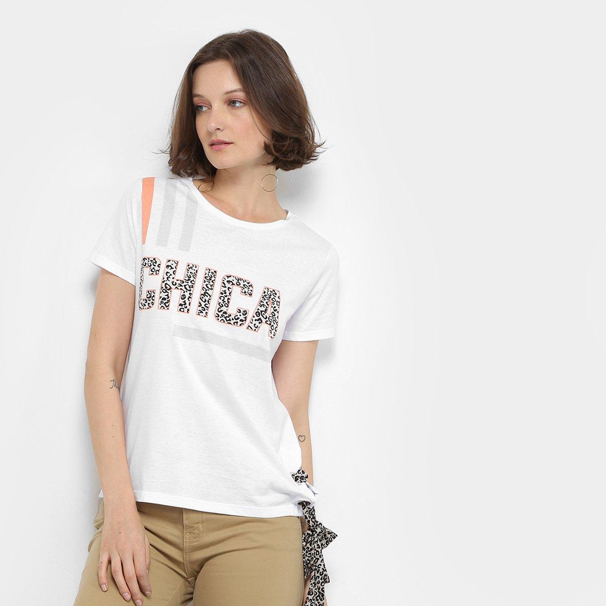 Foto 1 - Camiseta Lez Lez Estampada Lenço Feminina