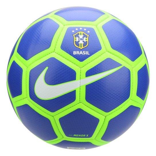 Bola de Futsal CBF Nike Menor X - Azul Royal e Verde - Compre Agora ... 555ee004474e3