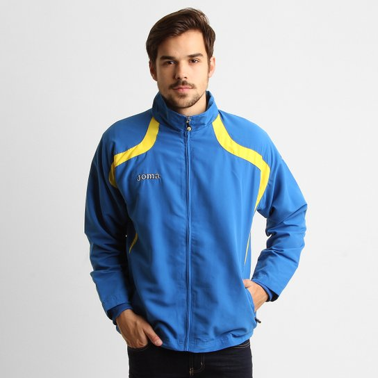 fc62285a90426 Jaqueta Joma Champion Masculina - Azul Royal+Amarelo