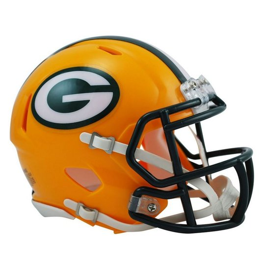 Capacete Miniatura 1 4 Riddell Green Bay Packers - Amarelo e Verde ... 36895fccef79b