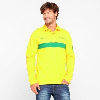 Camisa Polo Nike Seleção Brasil M L 145005980722a