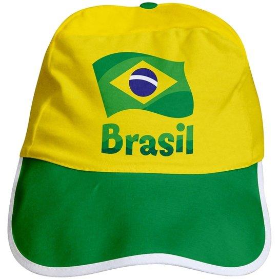 Boné Infantil Torcida Baby Brasil Unissex - Amarelo e Verde - Compre ... 1fcf1c5fc70