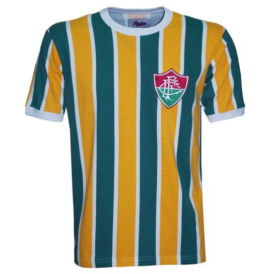 Camisa Liga Retrô Fluminense Brasil Masculina - Edição Limitada -  Amarelo+Verde d763bf51046eb