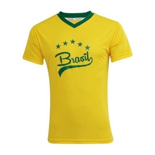 095b689caf997 Camisa Brasil Classic FEMININA - Super Bolla - Amarelo+Verde