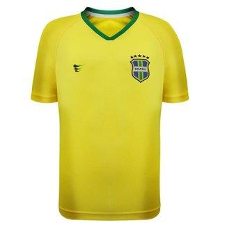 Camisa Super Bolla Brasil Torcedor Infantil Masculina 2ea7566106e39