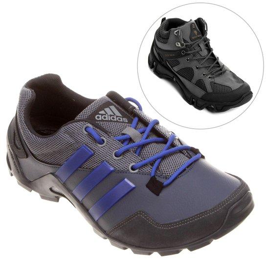 b1e2156766c Kit Tênis Adidas Anura + Bota GONEW Baltoro - Compre Agora