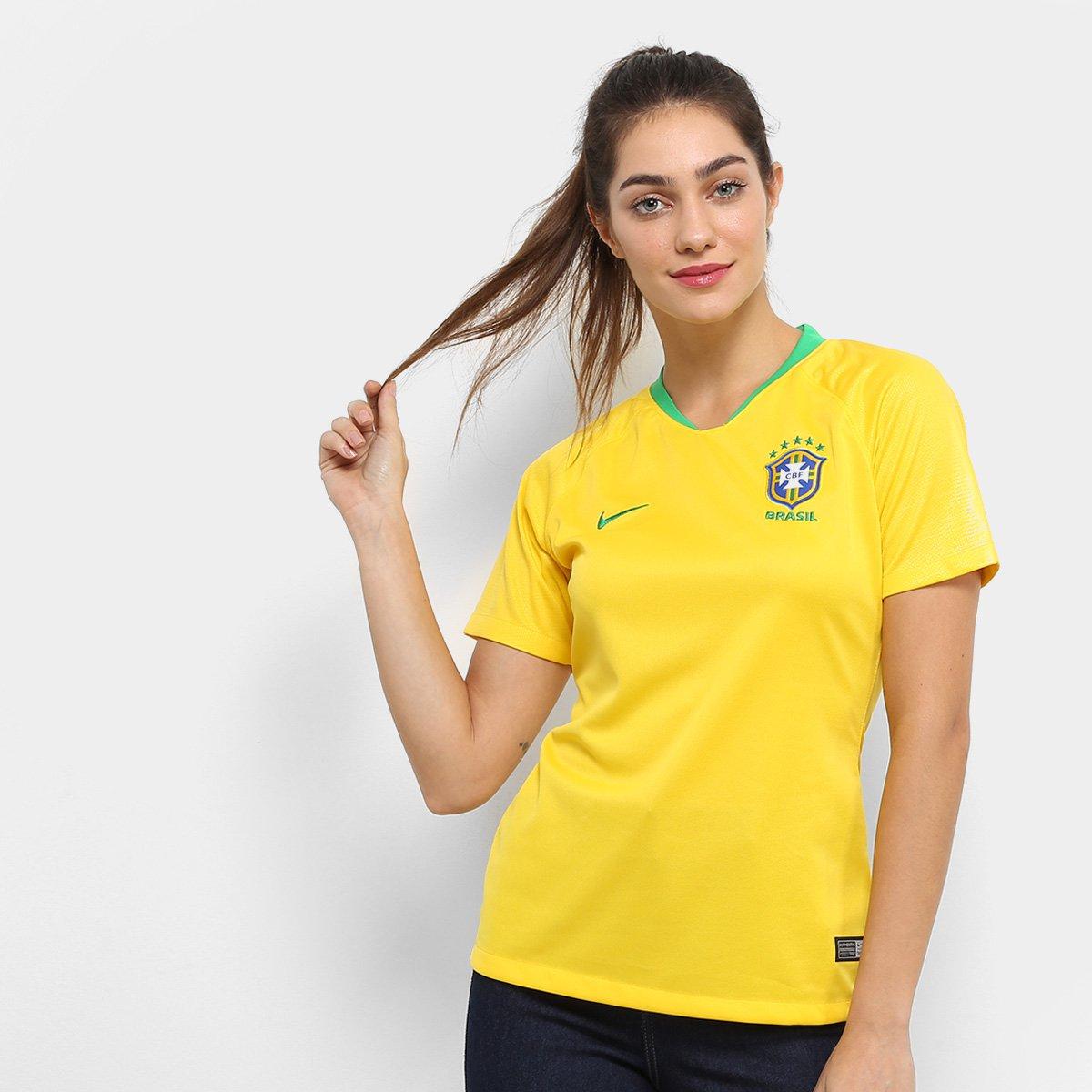 8d0ce6d24 20%OFF Camisa Seleção Brasil I 2018 s n° - Torcedor Nike Feminina