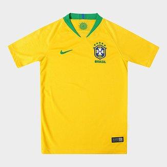Camisa Seleção Brasil Juvenil I 2018 s n° - Torcedor Nike 376c40054a4df