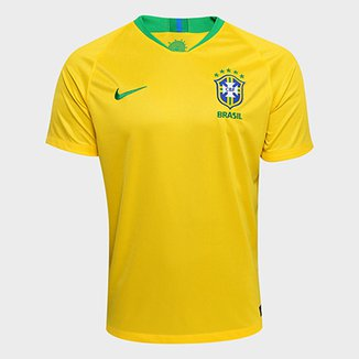 Camisa Seleção Brasil I 2018 s n° - Torcedor Nike Masculina 2b821913a75e3