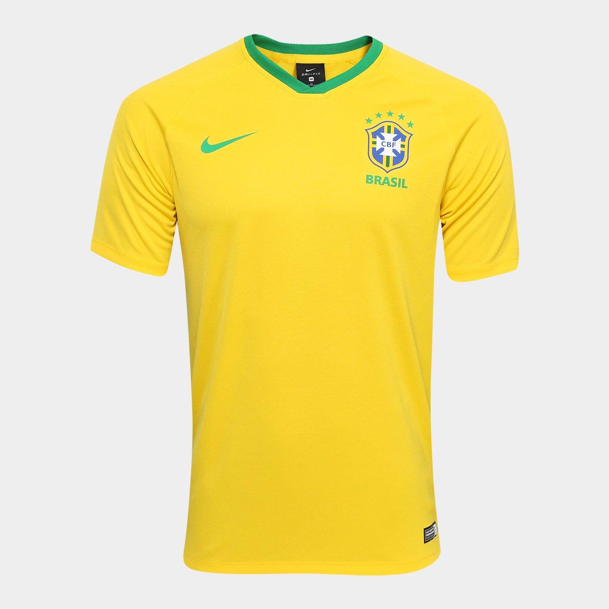 Camisa Seleção Brasil I 2018 s n° - Torcedor Estádio Nike Masculina d5a82987cd2e8