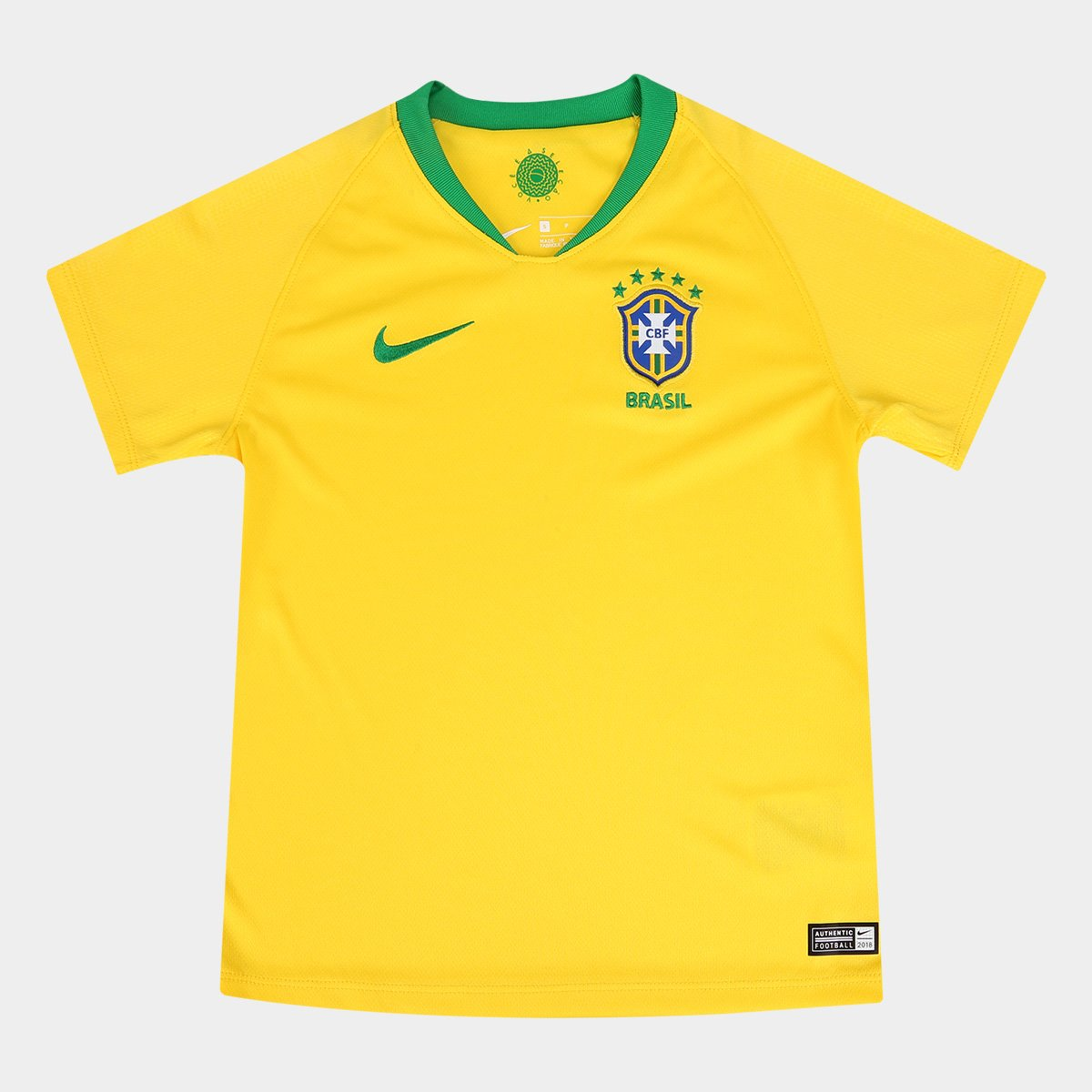 92a48c0b3c Camisa Seleção Brasil Infantil I 2018 s n° - Nike