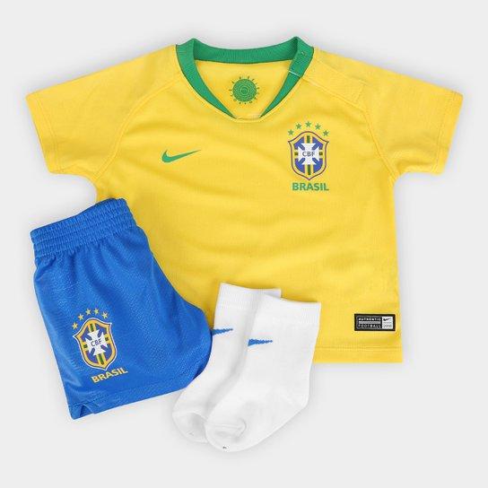 Kit Seleção Brasil Bebê I Stadium Nike - Amarelo e Verde - Compre ... 79e98c2afa509
