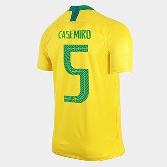 Camisa Seleção Brasil I 2018 nº 5 Casemiro - Torcedor Nike Masculina a2a27c87853e5