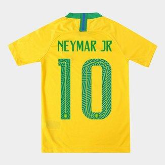 Camisa Seleção Brasil Juvenil I 2018 nº 10 Neymar Jr - Torcedor Nike 54c7a6578441f