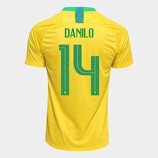 Camisa Seleção Brasil I 2018 nº 14 Danilo - Torcedor Nike Masculina e07f4e7a9b396