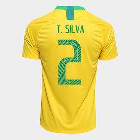 36cd6aee6e Camisa Seleção Brasil II 2018 nº 14 Danilo - Torcedor Nike Masculina ...