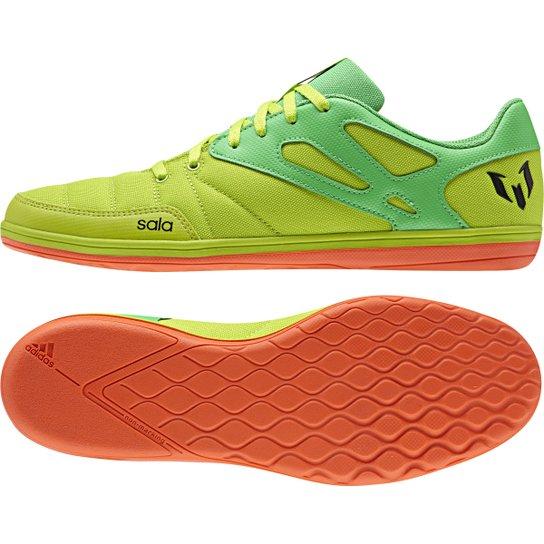 Chuteira Futsal Adidas Messi 15.4 ST Masculina - Verde Claro+Verde f51d2694f1b6b