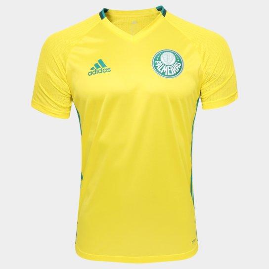 48dad5a1e7025 Camisa de Treino Palmeiras 2016 Adidas Masculina - Amarelo+Verde